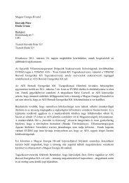 Magyar Energia Hivatal Horváth Péter Elnök Úrnak ... - EVDSZ