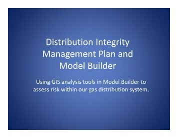 Distribution Integrity Distribution Integrity Management Plan and ...