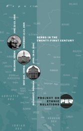 Serbs in the Twenty-First Century - Project on Ethnic Relations