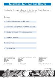 Guidelines for Food and Health - Birmingham Community Nutrition ...