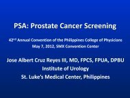 PSA: Prostate Cancer Screening - Philippine College of Physicians