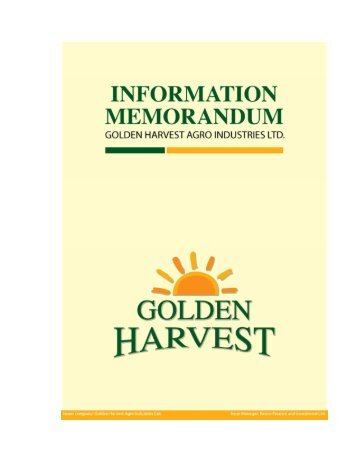 Golden Harvest Agro Industries Ltd. - Dhaka Stock Exchange