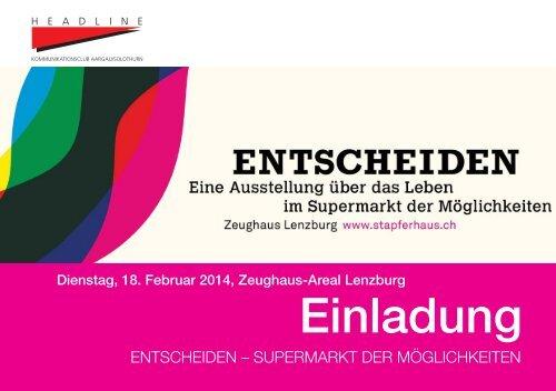 ENTSCHEIDEN - Supermarkt der Möglichkeiten - Headline