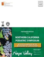 Napa Valley - The Podiatry Institute