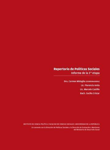 Repertorio de Políticas Sociales - Observatorio Social