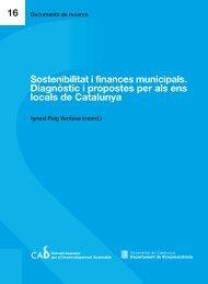 Sostenibilitat i finances municipals. Diagnòstic i propostes per als ...