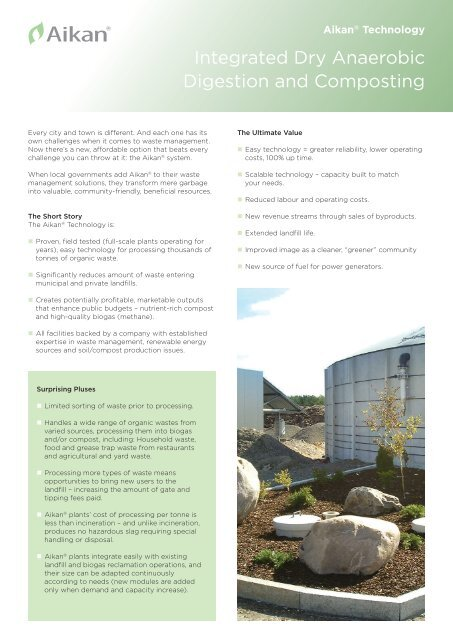 Integrated Dry Anaerobic Digestion and Composting - Aikan