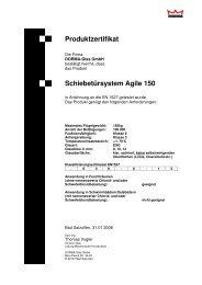 Zertifikat - DORMA Interior Glas