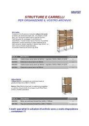 strutture e carrelli per organizzare il vostro archivio - amba italia srl