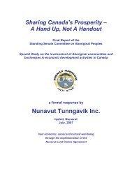 NTI Response to Economic Development Report - Nunavut ...