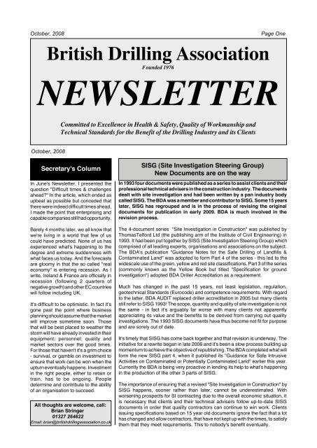 British Drilling Association Limited
