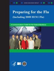 A Communication Toolkit for the Federal Workforce - Flu.gov
