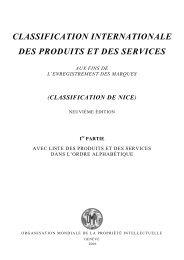 Classification de Nice, 9e édition