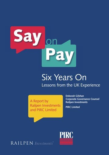 PAS 214 Say on Pay:Layout 1 - Pirc