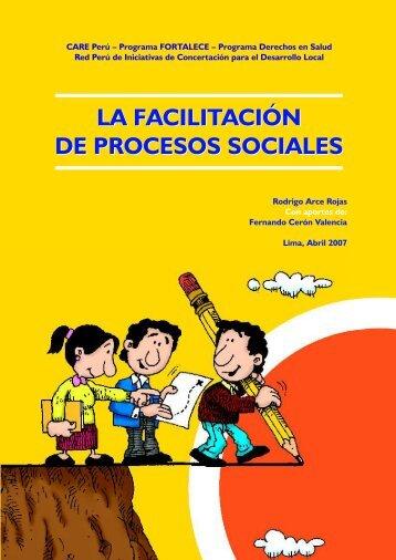 La Facilitación de procesos sociales - Bvs.minsa.gob.pe