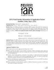 2012 Food Vendor Information & Application Packet