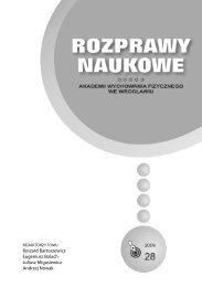 Rozprawy Naukowe 28 - Akademia Wychowania Fizycznego we ...