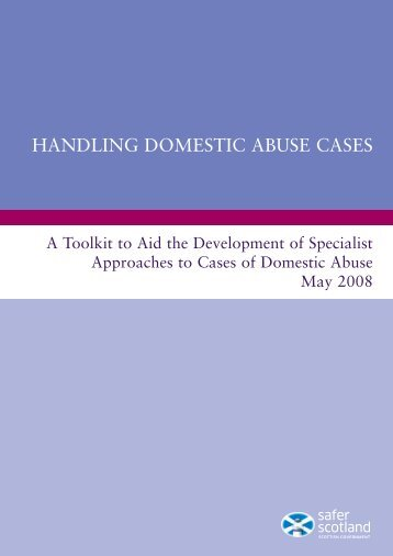 Handling Domestic Abuse Cases: A Toolkit to Aid the Development of ...