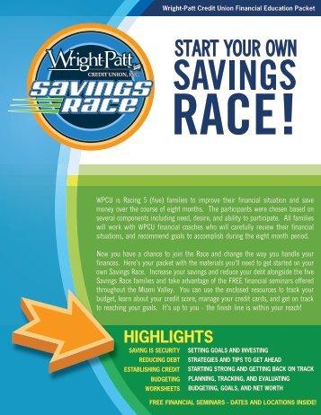 Savings Race Financial Education Packet - Wright-Patt Credit Union