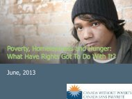 Power Point Presentation - Canada Without Poverty