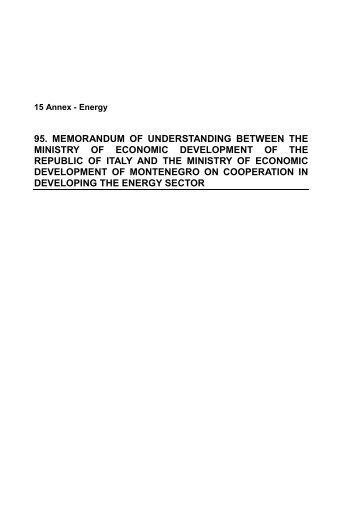 memorandum of understanding between the ministry of economic ...