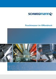 Feuchtwasser im Offsetdruck - Bernd Schwegmann GmbH & Co. KG
