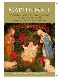 Weihnachten 2009 / Januar 2010 - Katholische Kirchengemeinde ...