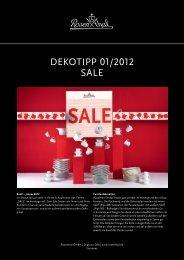 Dekotipp 01/2012 SALe - Rosenthal