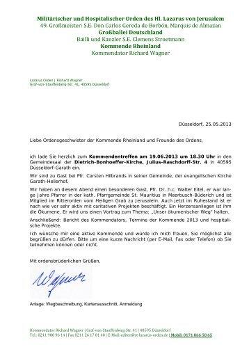 Einladung Kommende 20130619-homepage - Lazarus Orden in ...