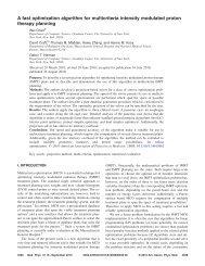 A fast optimization algorithm for multicriteria intensity modulated ...