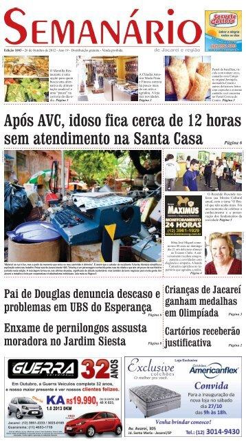 Edição 1003, de 26 de Outubro de 2012 - Semanário de Jacareí