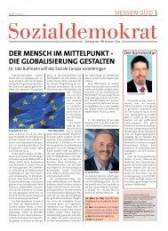 DIE GLOBALISIERUnG GESTALTEn - SPD Hessen Süd