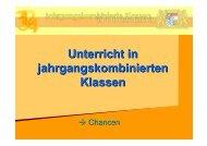 Jahrgangsgemischte Klassen - Schulen in Oberfranken