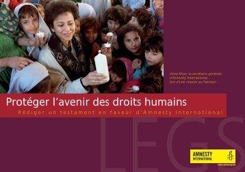 Protéger l'avenir des droits humains - amnesty.be
