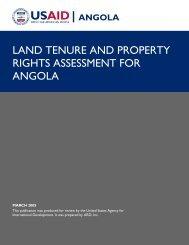 Angola Land Tenure Assessment - Tetra Tech International ...