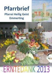 Pfarrbriefe_files/Erntedank 2013 - Pfarrei Heilig Geist Emmerting