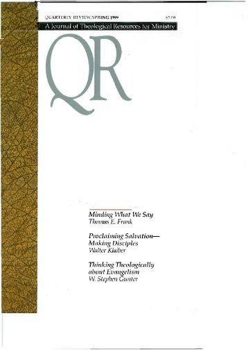 Spring 1999 - Quarterly Review
