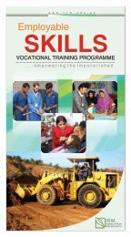 Employable skills-Vocational Training Programme - IRM