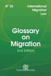 IOM Glossary on Migration - West