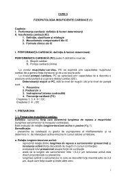 Curs 5 – Fiziopatologia insuficientei cardiace - OvidiusMD