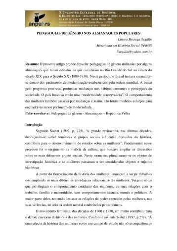 Linara Bessega Segalin - X Encontro Estadual de História – ANPUH ...