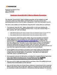 Hankook 'Great Hit 2011' Mail-in Rebate Promotion