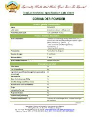 CORIANDER POWDER - Castle Malting