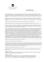 Acta Consejo Directivo, 3 º Sesión ordinaria - Facultad de Ciencias ...