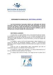 HERRAMIENTAS MANUALES: DESTORNILLADORES