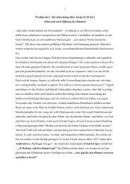 Predigt am 2. Adventssonntag über Jesaja 63,15-64,3