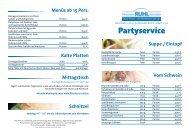 Partyservice - Gasthof und Fleischerei Ruhl