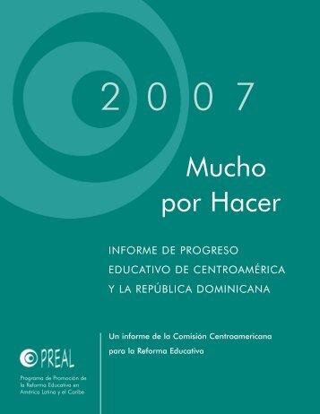 Mucho por hacer : informe de progreso educativo en ... - OEI