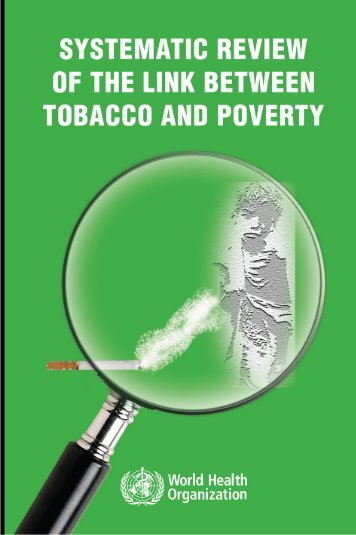 Systematic Review of the Link Between Tobacco and Poverty
