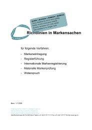 Richtlinien in Markensachen 1.7.2008